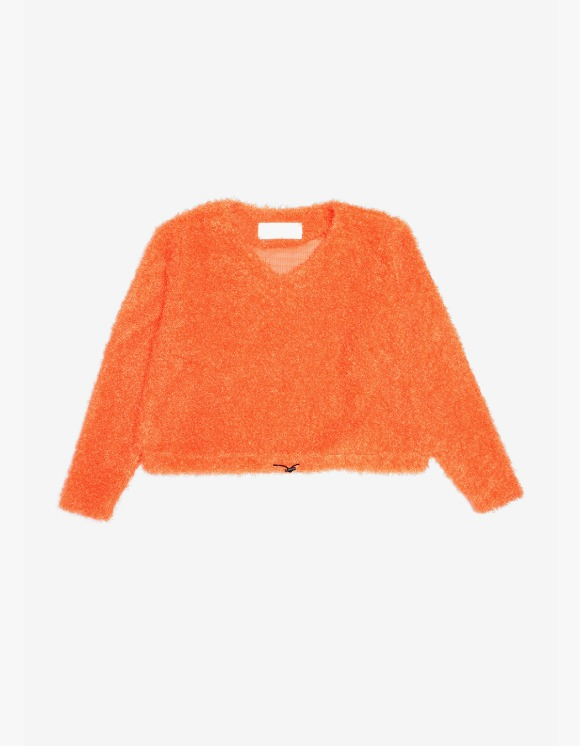 s/e/o Curly Sweater -Orange | HEIGHTS. | 하이츠 온라인 스토어