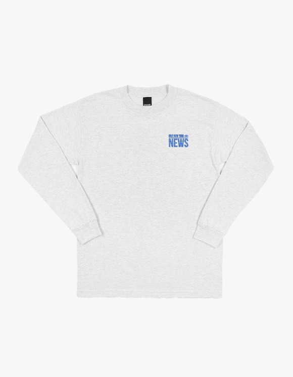 Only NY Eyewitness L/S Tee - Ash | HEIGHTS. | 하이츠 온라인 스토어