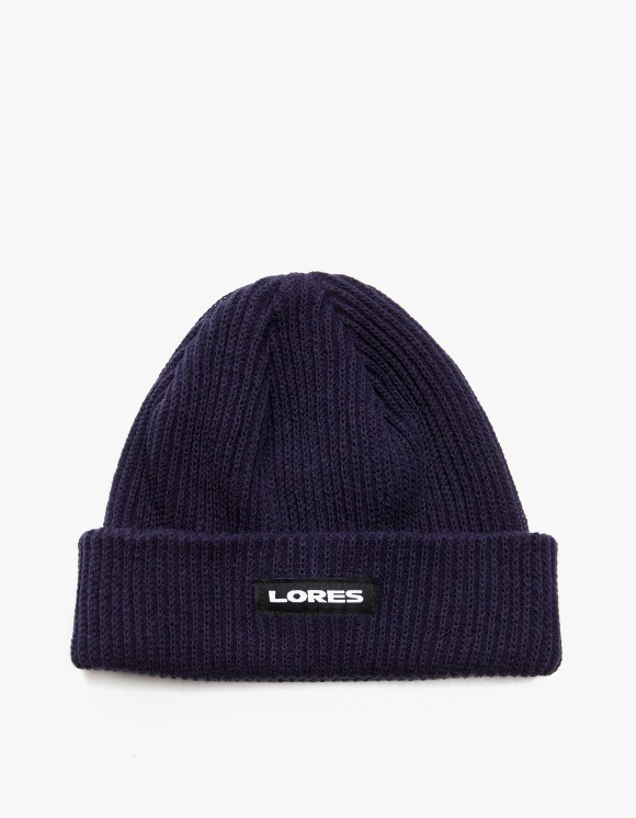 LORES Logo Ribbed Beanie - Navy | HEIGHTS. | 하이츠 온라인 스토어