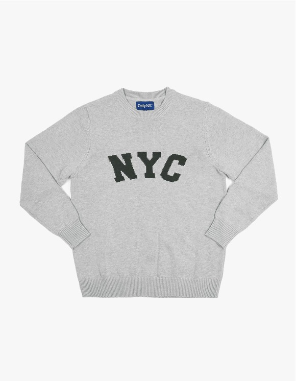 Only NY NYC Knit Sweater - Heather Grey | HEIGHTS. | 하이츠 온라인 스토어