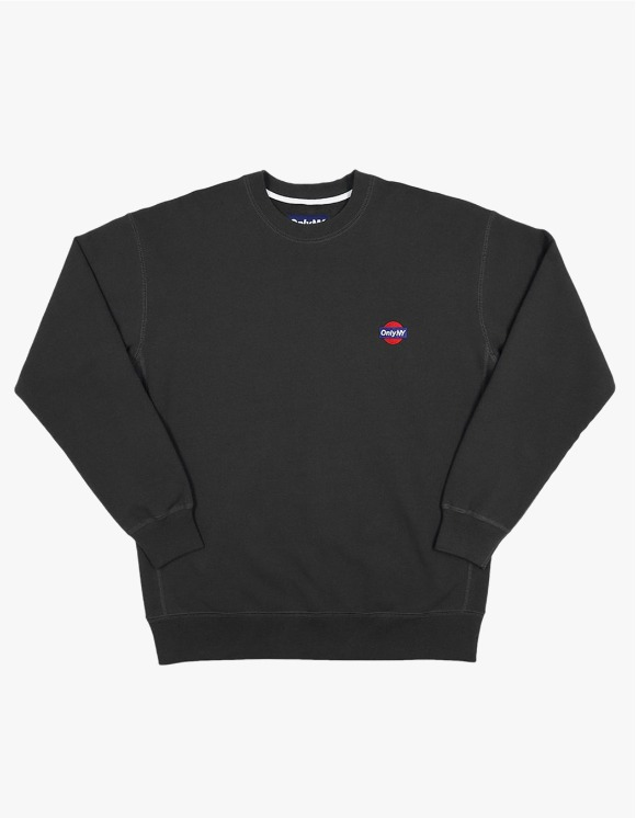 Only NY Service Crewneck - Black | HEIGHTS. | 하이츠 온라인 스토어