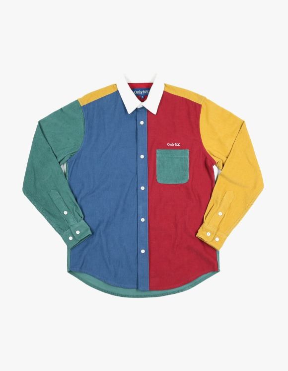 Only NY Corduroy Color Block Shirt - Multi | HEIGHTS. | 하이츠 온라인 스토어