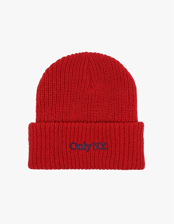 Only NY Lodge Beanie - Red | HEIGHTS. | 하이츠 온라인 스토어