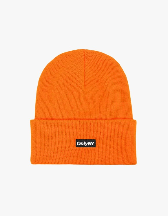 Only NY Block Logo Beanie - Orange | HEIGHTS. | 하이츠 온라인 스토어