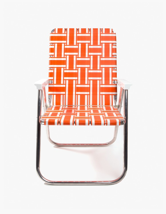 Lawn Chair Deluxe Chair - Orange and White | HEIGHTS. | 하이츠 온라인 스토어