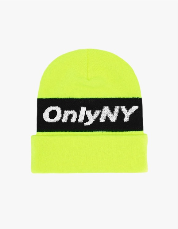 Only NY Knit Logo Beanie - Yellow | HEIGHTS. | 하이츠 온라인 스토어