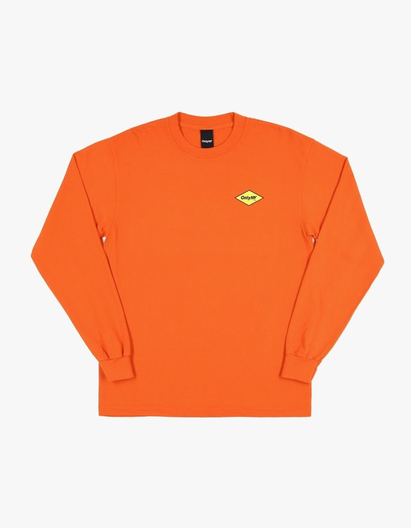 Only NY Diamond Logo L/S Tee - Orange | HEIGHTS. | 하이츠 온라인 스토어