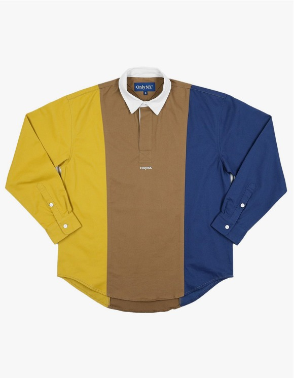 Only NY Tri Color Popover Shirt - Camel | HEIGHTS. | 하이츠 온라인 스토어