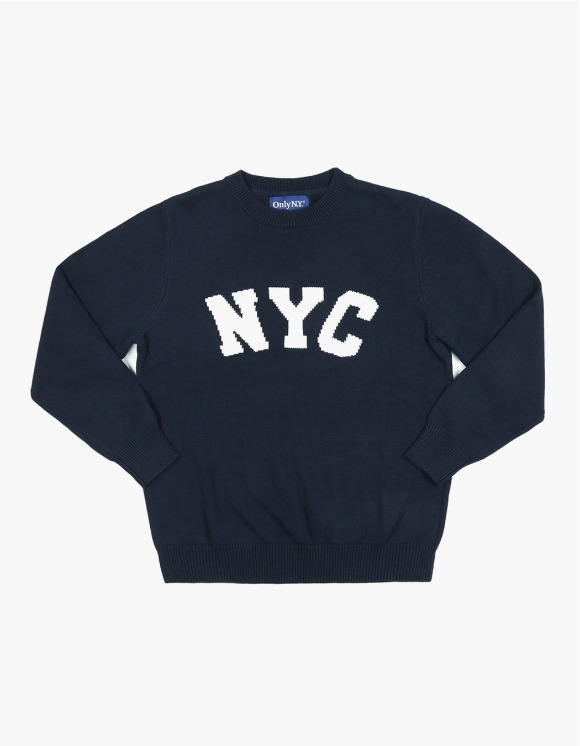 Only NY NYC Knit Sweater - Navy | HEIGHTS. | 하이츠 온라인 스토어