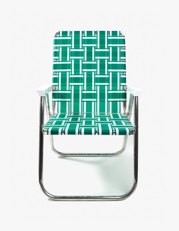 Lawn Chair Deluxe Chair - Green and White | HEIGHTS. | 하이츠 온라인 스토어