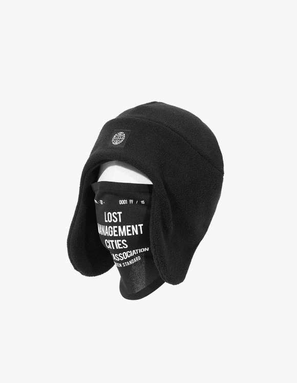 LMC LMC MASK FLEECE EARFLAP BEANIE black | HEIGHTS. | 하이츠 온라인 스토어