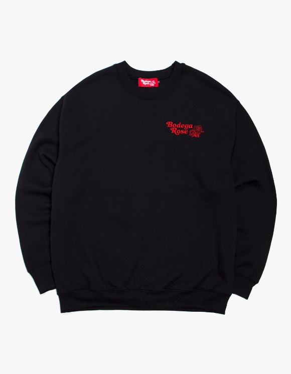Bodega Rose Bodega Rose Embroidered Crew - Black | HEIGHTS. | 하이츠 온라인 스토어