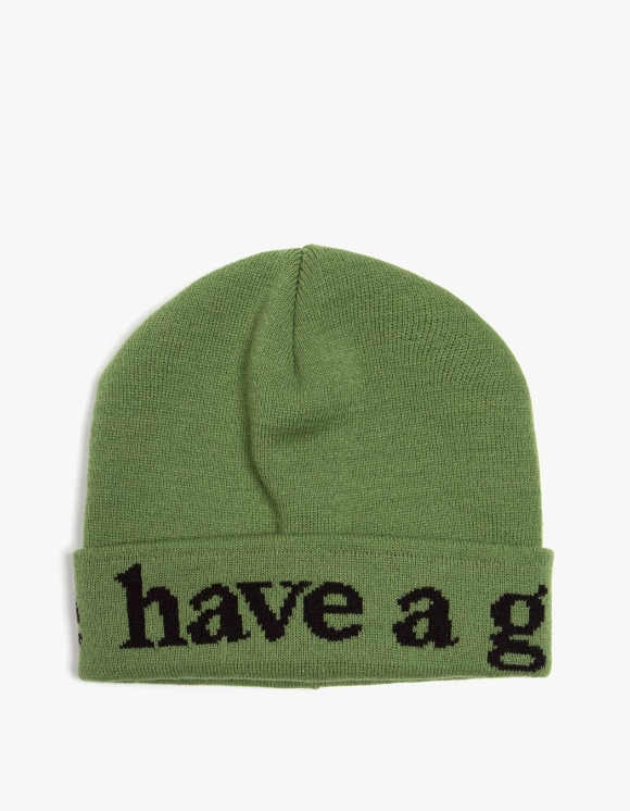 have a good time Side Logo Beanie - Olive | HEIGHTS. | 하이츠 온라인 스토어