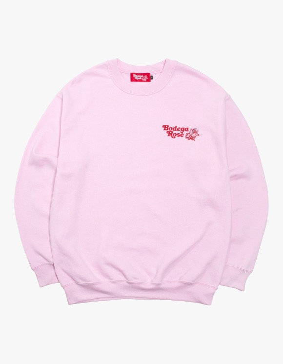 Bodega Rose Bodega Rose Embroidered Crew - Pink | HEIGHTS. | 하이츠 온라인 스토어