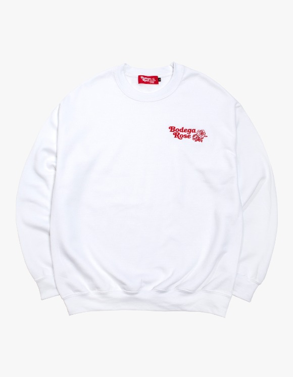Bodega Rose Bodega Rose Embroidered Crew - White | HEIGHTS. | 하이츠 온라인 스토어