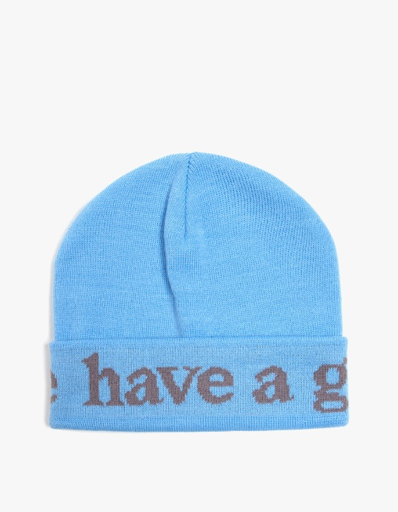 have a good time Side Logo Beanie - Blue | HEIGHTS. | 하이츠 온라인 스토어