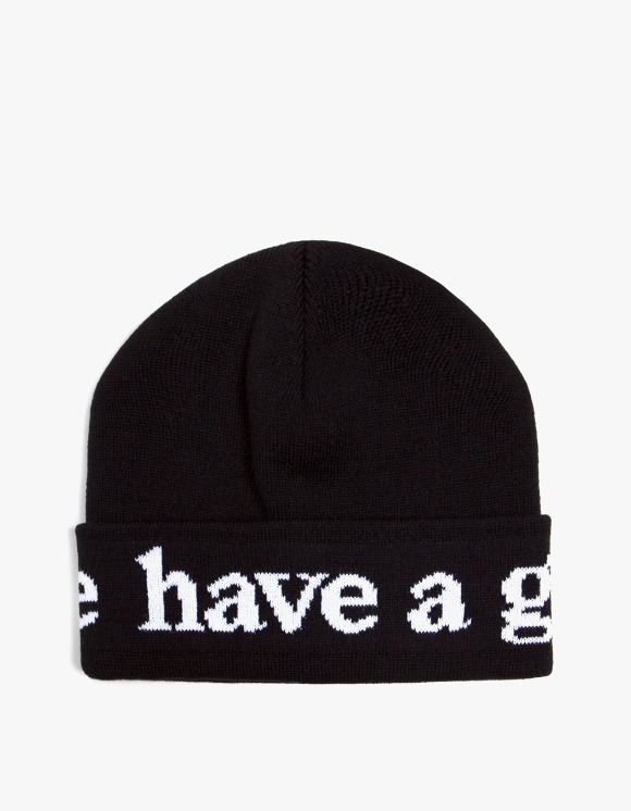 have a good time Side Logo Beanie - Black | HEIGHTS. | 하이츠 온라인 스토어