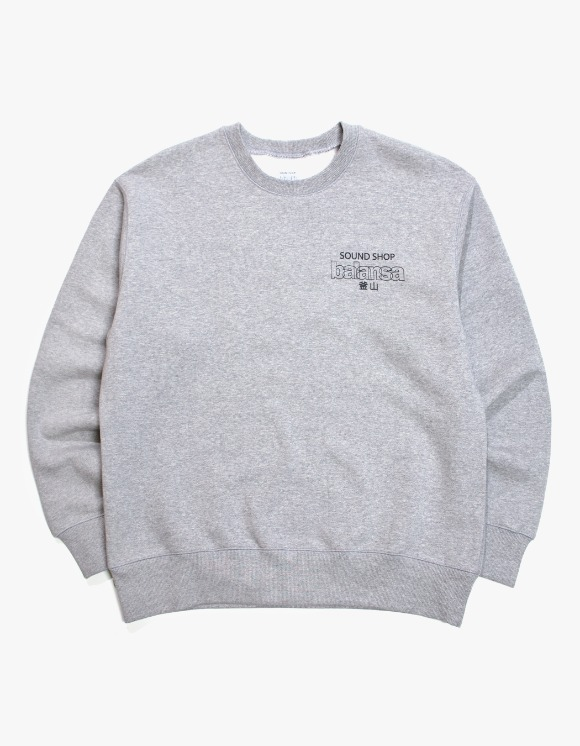 Balansa Balansa Logo Crewneck - Grey | HEIGHTS. | 하이츠 온라인 스토어