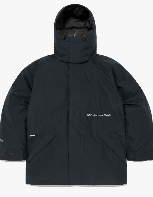 thisisneverthat GORE-TEX® INFINIUM™ Explorer Down Parka - Navy | HEIGHTS. | 하이츠 온라인 스토어