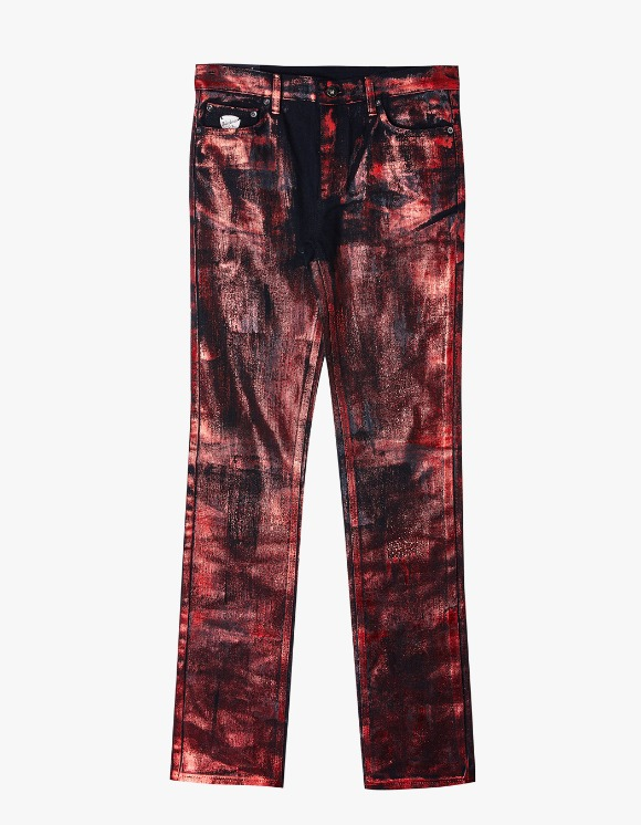Dying Breed Red Metallic Coated Straight Jean | HEIGHTS. | 하이츠 온라인 스토어