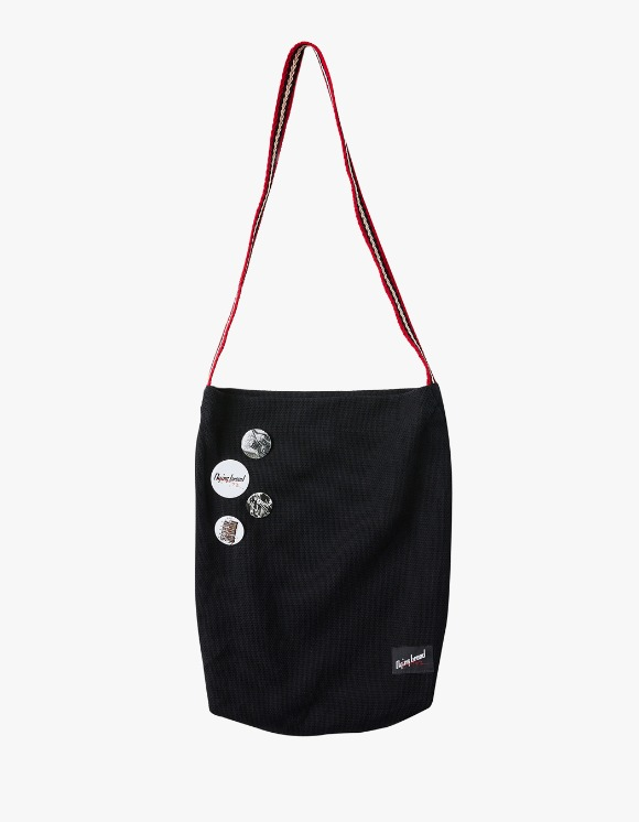 Dying Breed Cotton Label Cross Bag Red With Pins | HEIGHTS. | 하이츠 온라인 스토어