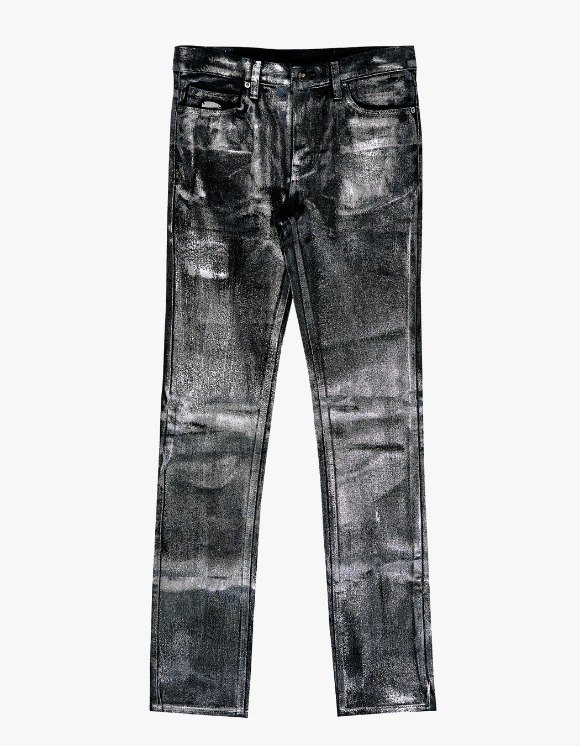 Dying Breed Black Metallic Coated Straight Jean | HEIGHTS. | 하이츠 온라인 스토어