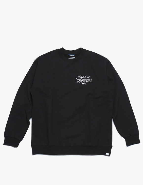 360Sounds INTERBREED x BALANSA x diskunion DEALERS Crewneck BLACK | HEIGHTS. | 하이츠 온라인 스토어