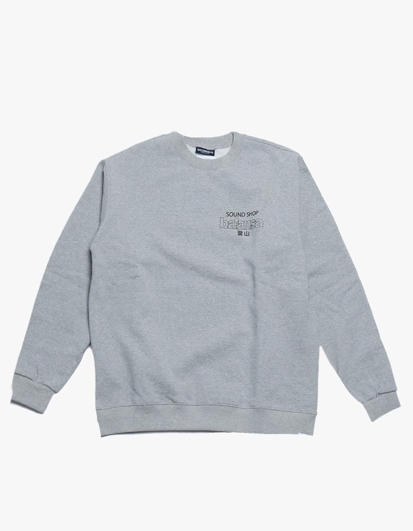 360Sounds INTERBREED x BALANSA x diskunion DEALERS Crewneck GREY | HEIGHTS. | 하이츠 온라인 스토어
