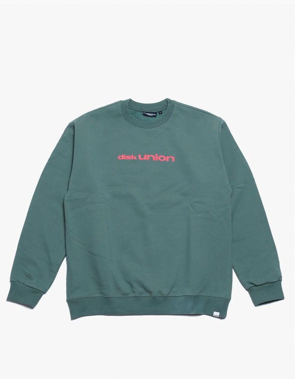 360Sounds INTERBREED x 360SOUNDS x diskunion PLAYERS CREWNECK - Olive | HEIGHTS. | 하이츠 온라인 스토어