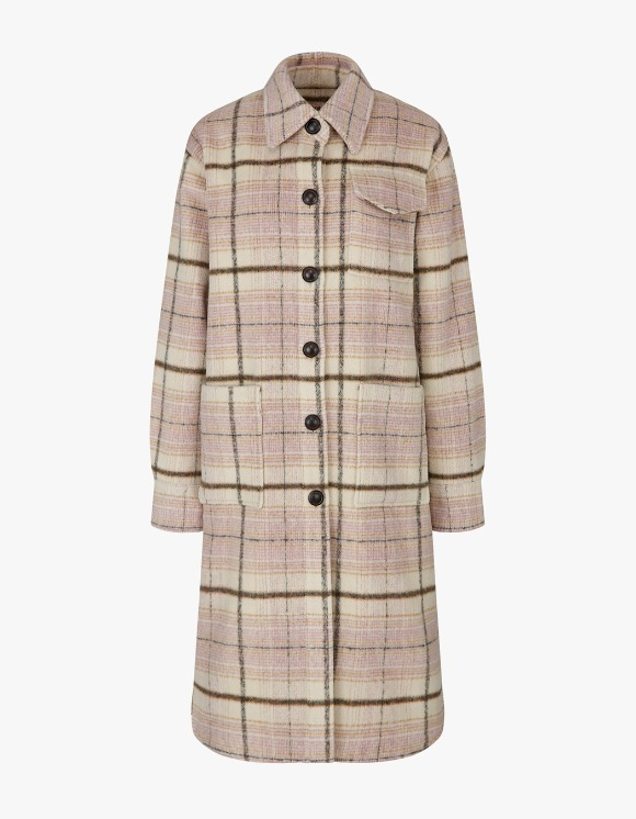 Margarin Fingers Over Shirt Coat - Beige Check | HEIGHTS. | 하이츠 온라인 스토어