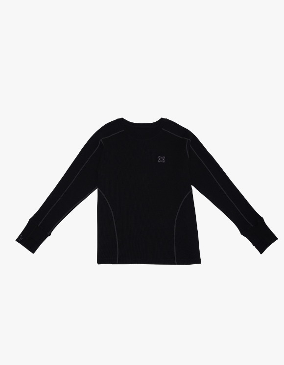 GPD Waffle Jersey Top - Black | HEIGHTS. | 하이츠 온라인 스토어