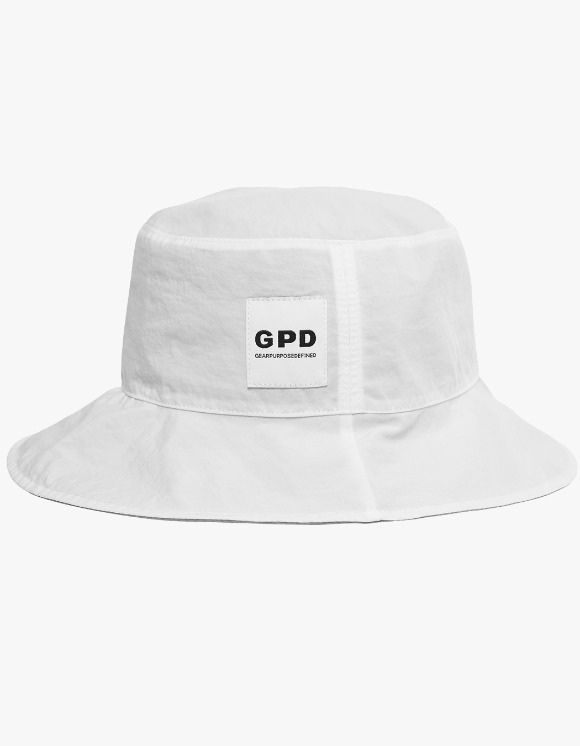GPD Reversible Bucket Hat - White | HEIGHTS. | 하이츠 온라인 스토어
