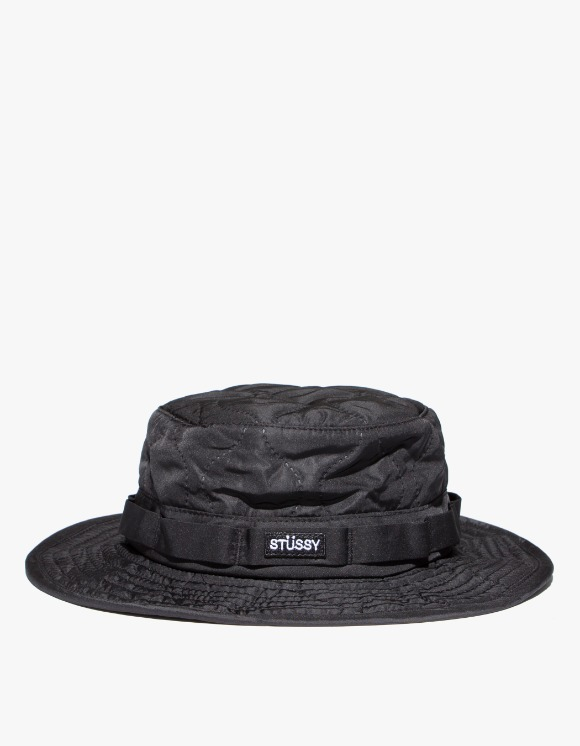 Stussy Quilted Ripstop Boonie Hat - Black | HEIGHTS. | 하이츠 온라인 스토어