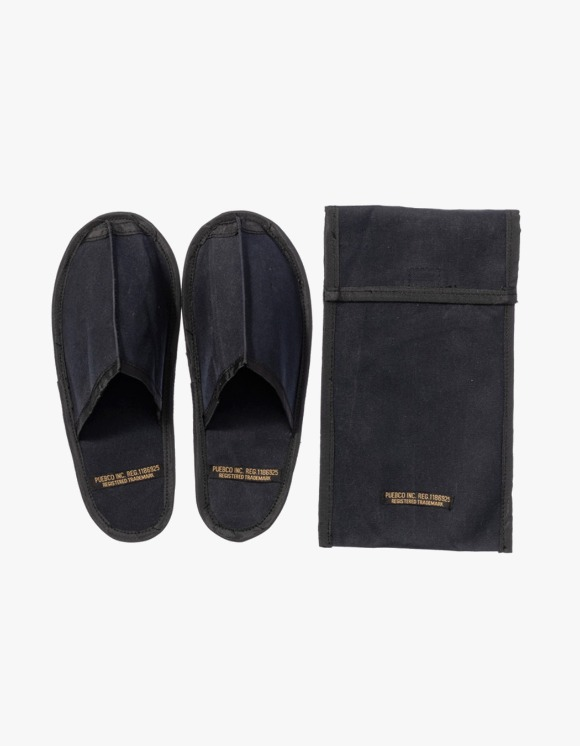 PUEBCO INC. Waxed Canvas Portable Slipper Large - Black | HEIGHTS. | 하이츠 온라인 스토어