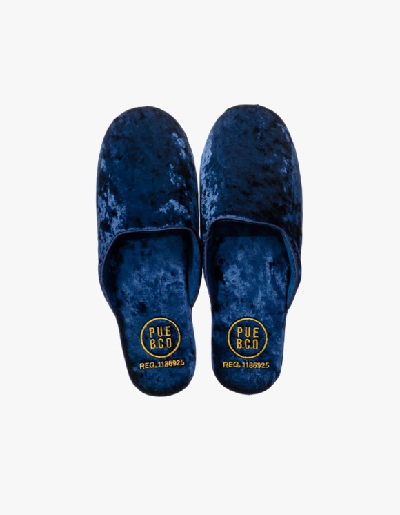 PUEBCO INC. Velvet Slipper, Large - Navy | HEIGHTS. | 하이츠 온라인 스토어