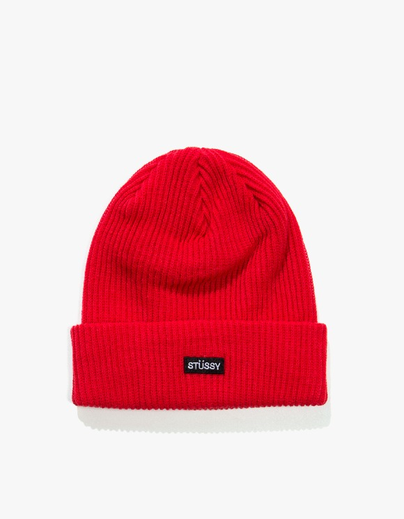 Stussy Small Patch Watch Cap Beanie - Red | HEIGHTS. | 하이츠 온라인 스토어