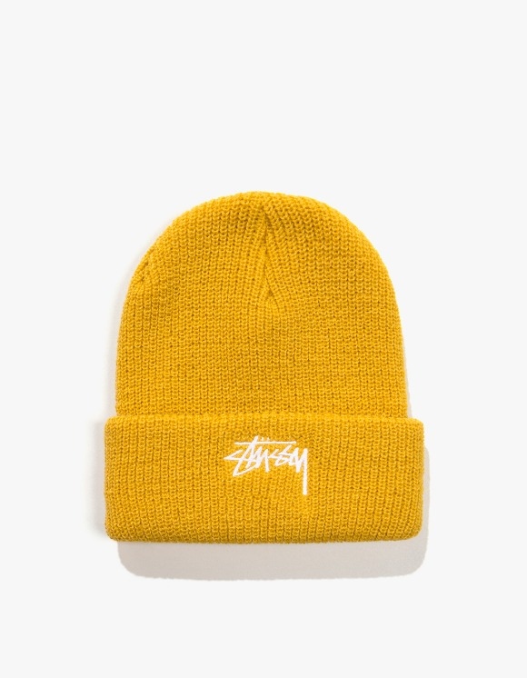 Stussy HO19 Stock Cuff Beanie - Safron Yellow | HEIGHTS. | 하이츠 온라인 스토어