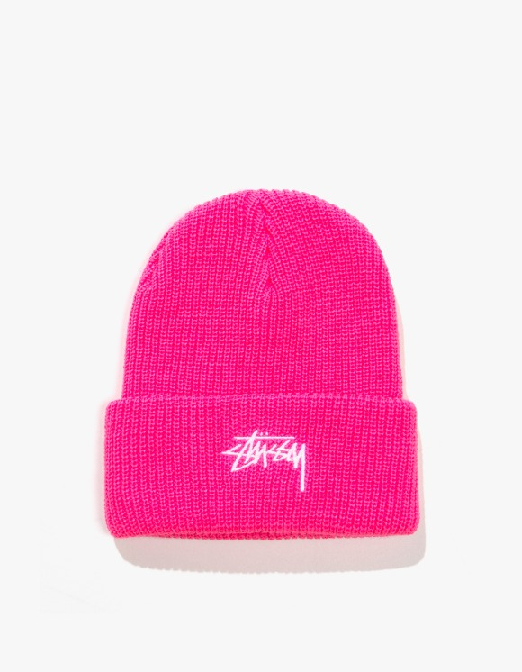 Stussy HO19 Stock Cuff Beanie - Fuschia | HEIGHTS. | 하이츠 온라인 스토어