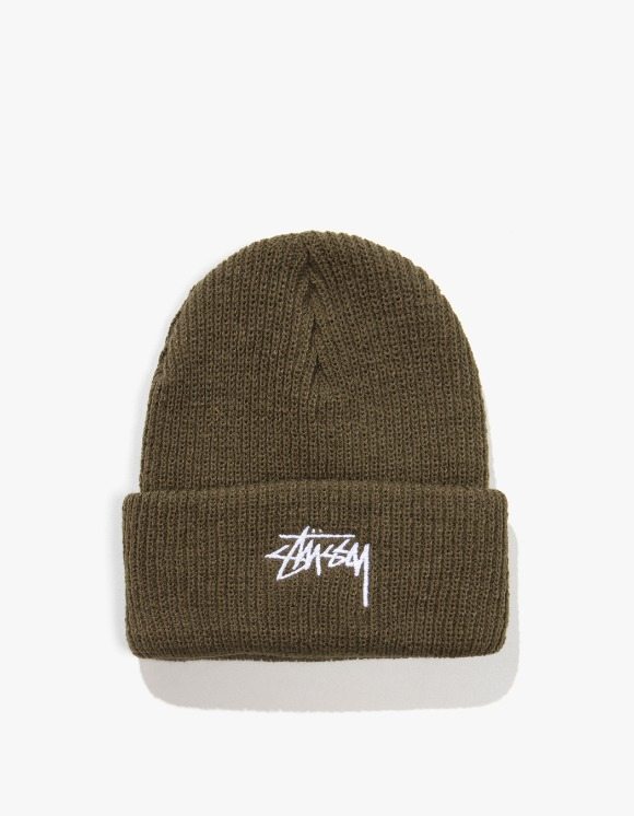 Stussy HO19 Stock Cuff Beanie - Army Green | HEIGHTS. | 하이츠 온라인 스토어