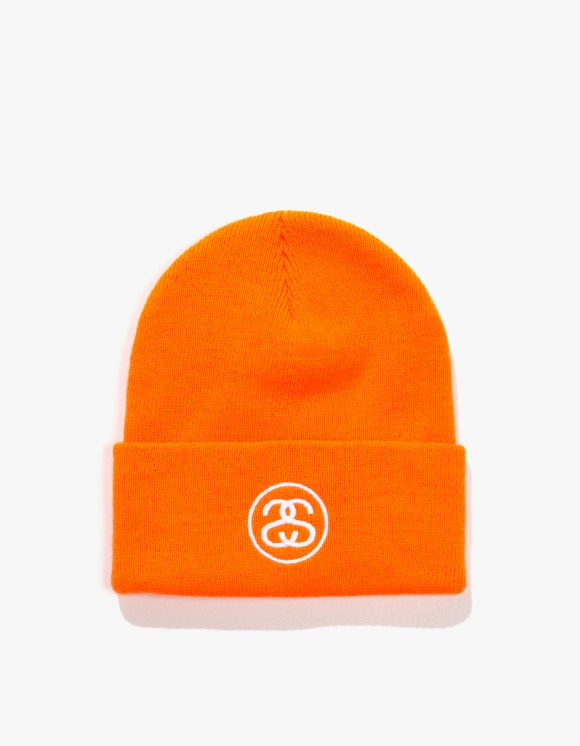 Stussy SS Link Cuff Beanie - Blaze Orange | HEIGHTS. | 하이츠 온라인 스토어