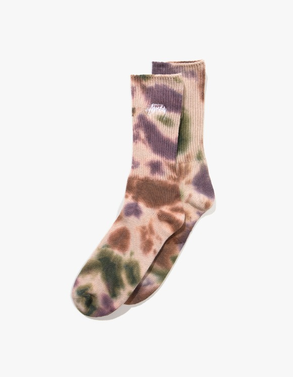 Stussy Tie Dye Socks - Olive | HEIGHTS. | 하이츠 온라인 스토어