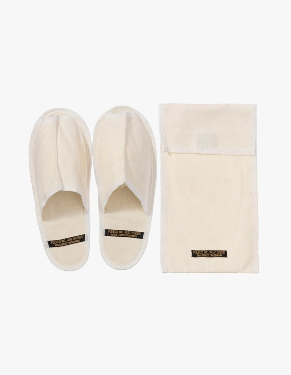 PUEBCO INC. Waxed Canvas Portable Slipper Large - White | HEIGHTS. | 하이츠 온라인 스토어