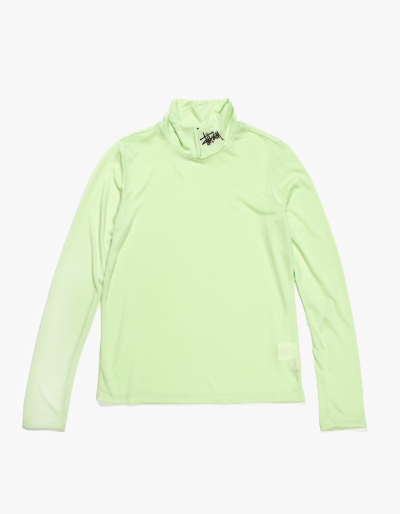 Stussy Monty Tissue Mock Neck - Lime | HEIGHTS. | 하이츠 온라인 스토어