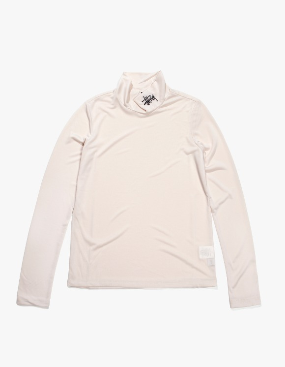 Stussy Monty Tissue Mock Neck - White | HEIGHTS. | 하이츠 온라인 스토어