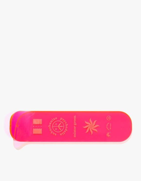 Mister Green Logo Stack Incense Burner - Neon Pink | HEIGHTS. | 하이츠 온라인 스토어