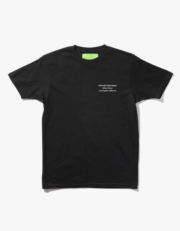 Mister Green Minimalist Weed Design S/S Tee - Black | HEIGHTS. | 하이츠 온라인 스토어