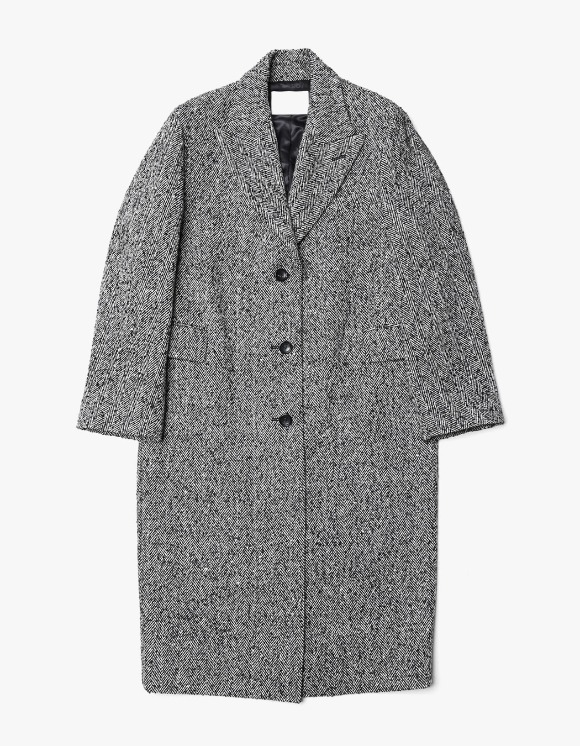 s/e/o Tailored Single Coat - Herringbone | HEIGHTS. | 하이츠 온라인 스토어