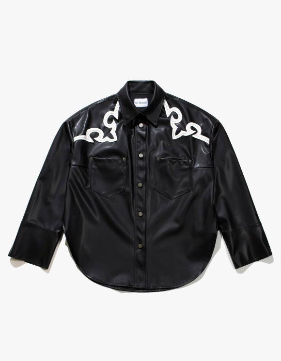 Media(82) Western Leather Shirts - Black | HEIGHTS. | 하이츠 온라인 스토어