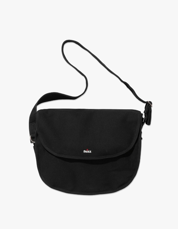Fuzz FUZZ CANVAS MESSENGER BAG black | HEIGHTS. | 하이츠 온라인 스토어