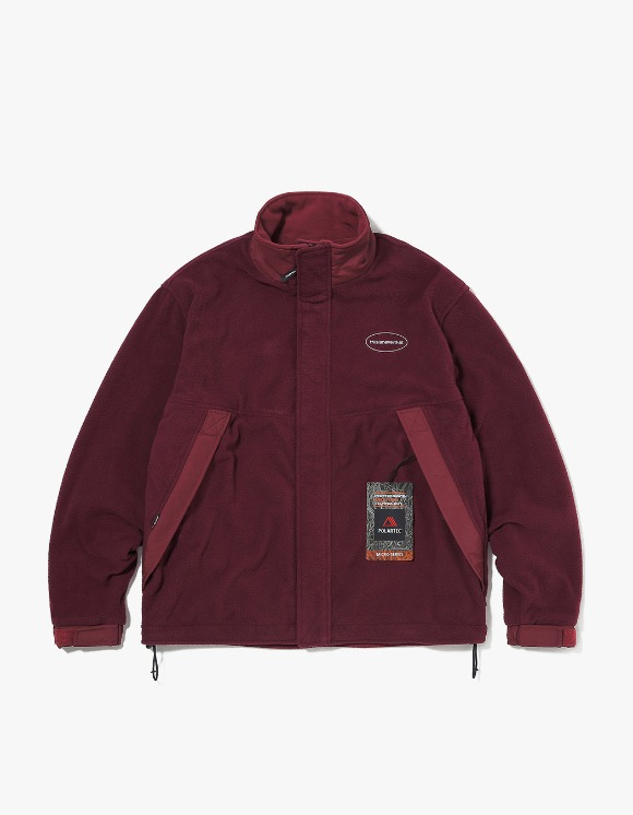 thisisneverthat POLARTEC® Fleece Jacket - Burgundy | HEIGHTS. | 하이츠 온라인 스토어
